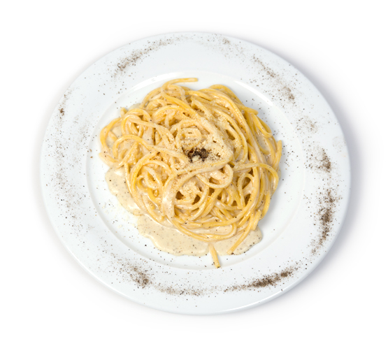 spaghetti cheese and pepper